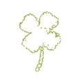 shamrock leaf contour vector image