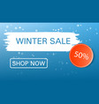 shop now winter sale concept background realistic vector image