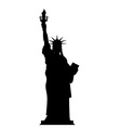Silhouette Statue of Liberty in USA Contour vector image vector image