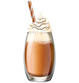 Smoothie with whipped cream vector image vector image