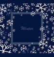 snowflakes square frame vector image vector image
