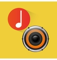 Speaker music sound vector image vector image