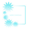 square frame with snowflakes isolated on white vector image vector image