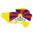 Tibet Flag vector image vector image