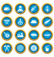 timber industry icons blue circle set vector image vector image