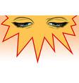 women eyes look down vector image vector image