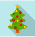 xmas tree icon flat style vector image vector image