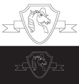 strong logo in view horse vector image