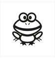 frog icon for book educational game for kids vector image