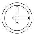 clock black color icon vector image