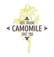 100 percent organic camomile label for all natural vector image