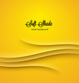Abstract background with yellow shadow ornament vector image vector image