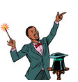 african magician amazing performance isolate on vector image