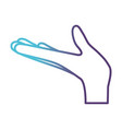 arm extended hand gesture on gradient color vector image vector image