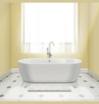 bathtub in interior vector image vector image