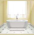 bathtub in interior vector image