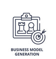 business model generation line icon concept vector image vector image