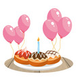 cake and birthday vector image