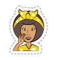 cartoon woman expression image vector image vector image