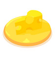 cheese icon isometric 3d style vector image vector image