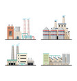 chemical plants and industrial power factory vector image