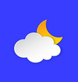 cloudy night weather forecast info icon cloud and vector image vector image