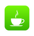 cup of hot drink icon digital green vector image