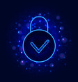 cyber data security concept secure online cloud vector image vector image