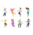 dancing people silhouette vector image vector image