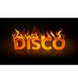 disco fire vector image