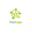 dot connect technology logo vector image vector image