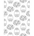easter eggs pattern easter seamless background vector image vector image