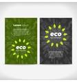 Eco leaflet design vector image vector image