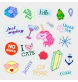 Fashion patch badges Big set Stickers pins vector image vector image