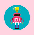 female cartoon robot with new idea vector image vector image