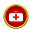 First aid kit icon in simple style vector image