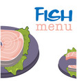 fish menu fish background image vector image