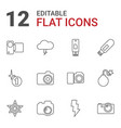 flash icons vector image vector image