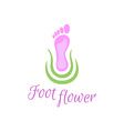 Foot care logo vector image vector image