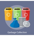 Garbage and Recycling Cans Collection vector image vector image