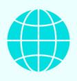 globe icon simple minimal 96x96 pictogram vector image vector image