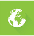 green earth with long shadow vector image vector image