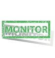 Green outlined MONITOR stamp vector image vector image