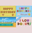 happy birthday inscription by unusual font vector image vector image