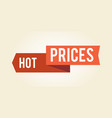 hot prices colorful sign icon vector image vector image