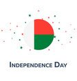independence day of madagascar patriotic banner vector image