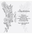 invitation Grey butterfly pattern vector image vector image