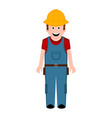 isolated male builder icon vector image