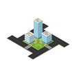 isometric city square vector image