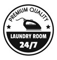 laundry room 24 hours logo simple style vector image vector image